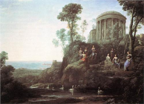 Apollo and the Muses on Mount Helicon, by Claude Lorrain